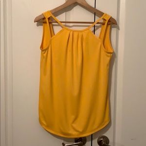 Yellow yoga top
